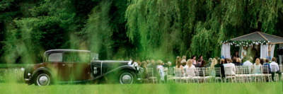 Stunning wedding venue set on the edge of ancient Bluebell woodland. They offer a complete package. Marriage ceremony overlooking rolling hills. Award winning cuisine, venue decorating and marquees. Everything to make your day perfect.